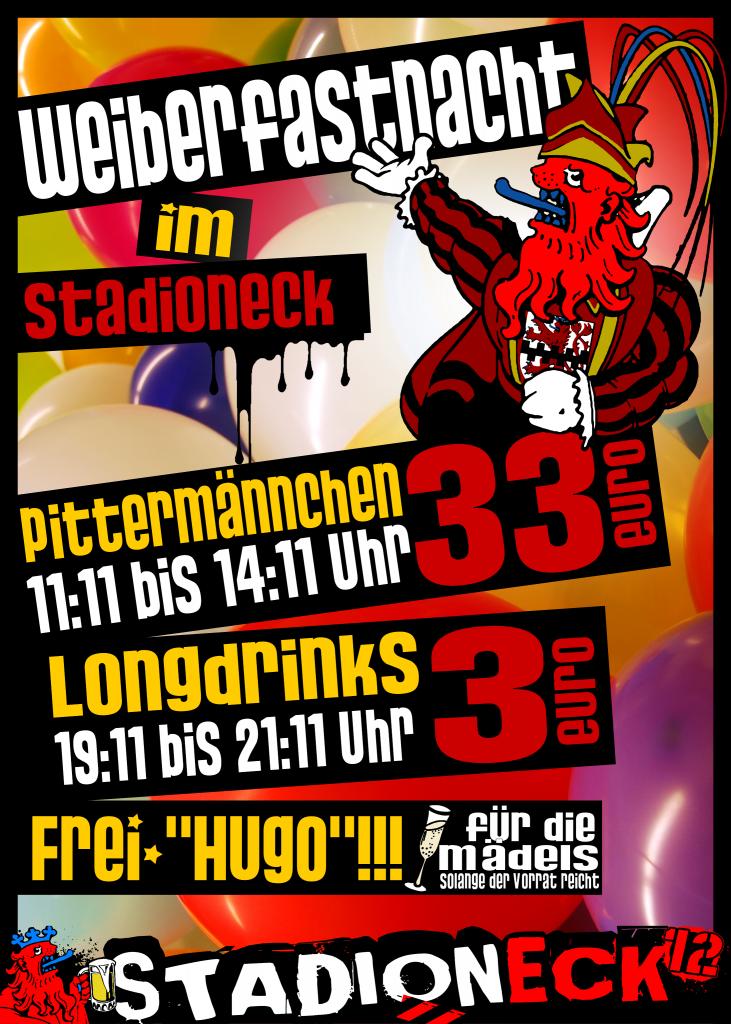 Plakat Karneval Weiberfastnacht