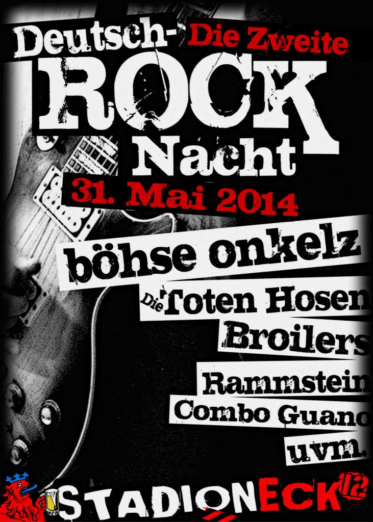 Plakat Deutschrock Nacht 2