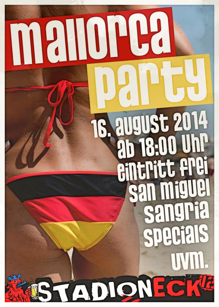 Plakat Mallorca Party 2014 mittel