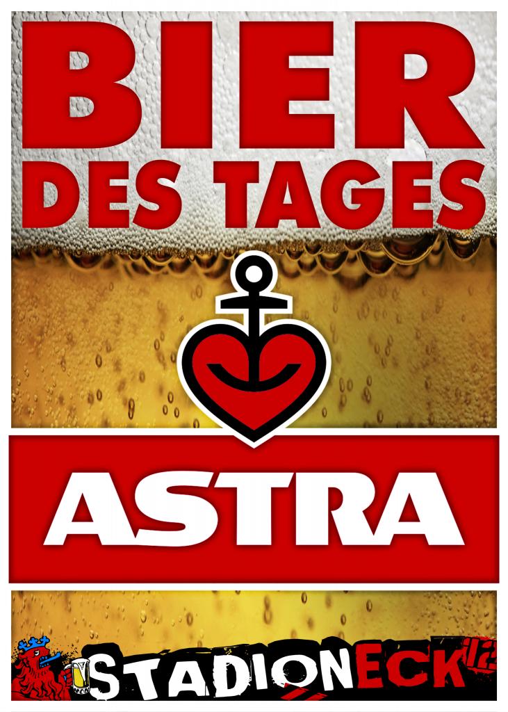Plakat Bier des Tages Astra