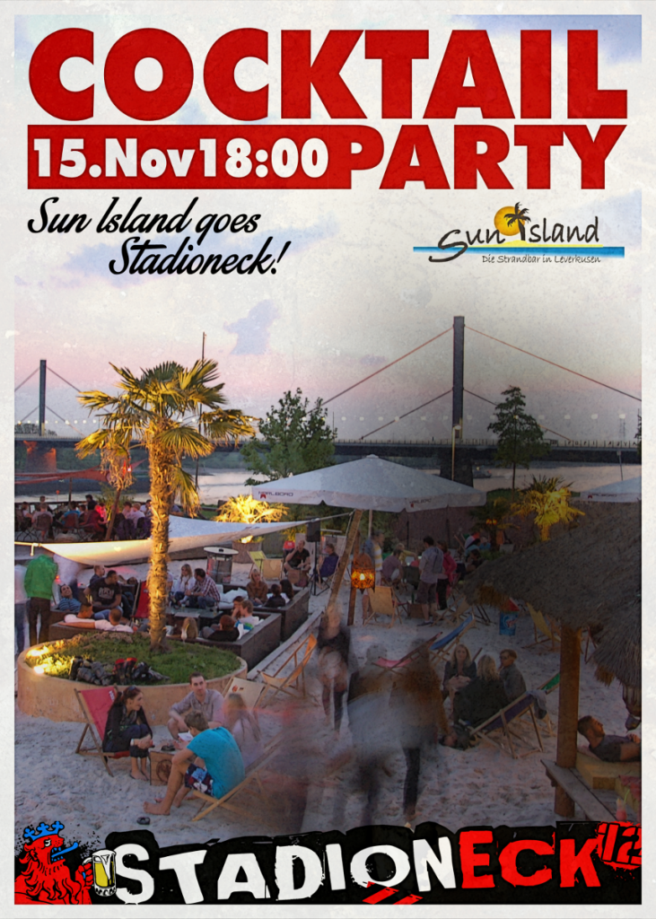 Plakat Cocktailparty Sun Island Stadioneck