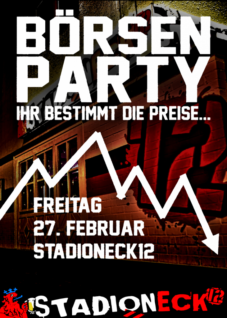 Plakat Börsenparty
