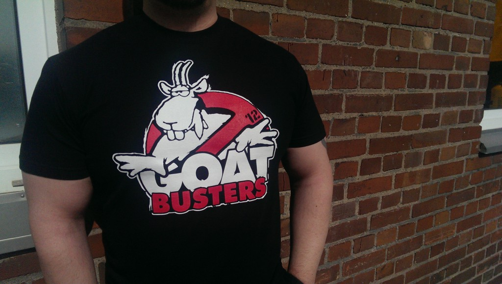 T shirt Goatbusters